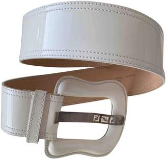 Fendi \N White Patent leather Belts