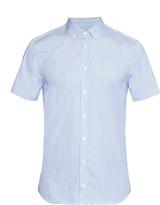Joseph Jim short-sleeved striped cotton-blend shirt