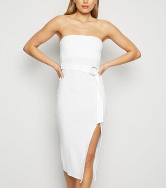 New Look Bandeau Belted Midi Dress