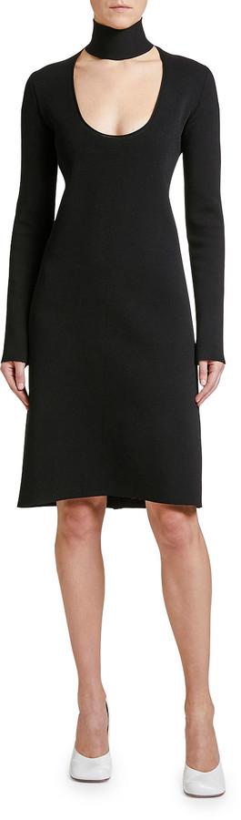 Bottega Veneta Long-Sleeve Scoop-Cutout Dress