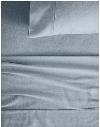 Sheridan Grenville Flannelette Sheet Set in Chambray Lt Blue Queen