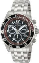 Invicta Pro Diver Mens Silver-Tone & Brown Chronograph Watch 14512