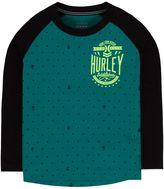 Hurley Boys 4-7 High-Low Raglan Tee