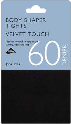 John Lewis & Partners 60 Denier Velvet Touch Body Shaper Opaque Tights