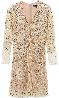 French Connection Emille Sequin Plunge Dress