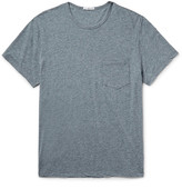 James Perse Slim-fit Mélange Cotton-blend Jersey T-shirt