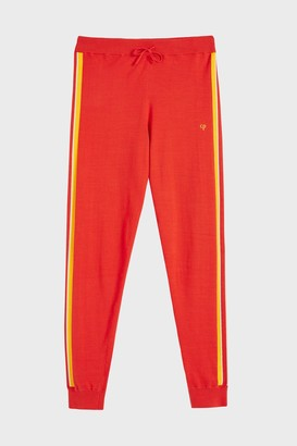 Chinti and Parker Red Seaside Stripe Track Pants