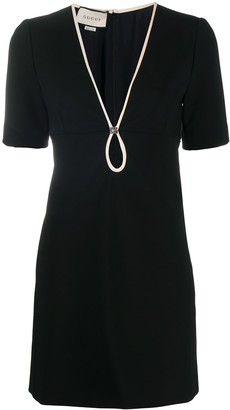 Gucci V-neck shift dress