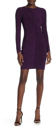 Vince Camuto Shirred Front Long Sleeve Dress