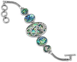 Samuel B. Sterling Silver Abalone Oval Dragon Bracelet