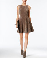 Ivanka Trump Faux-Suede Fit & Flare Dress