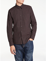 J. Lindeberg Daniel Brushed Shirt, Dusty Burgundy