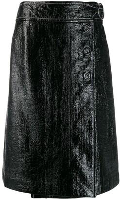 Marni Patent Wrap Style Skirt