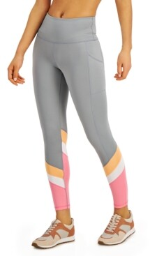 Ideology Colorblocked High-Waist Leggings, Created for Macy's