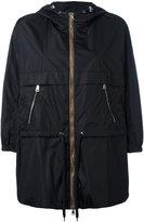 Moncler contrast trim hooded jacket