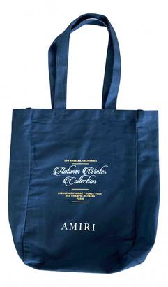 Amiri Black Cotton Bags