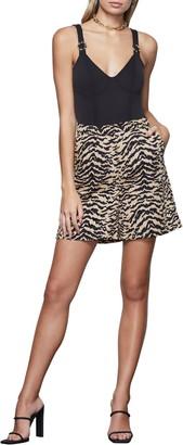 Good American Zebra Drapey Shorts
