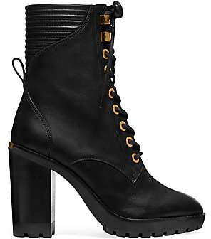 MICHAEL Michael Kors Women's Bastian Leather Combat Boots