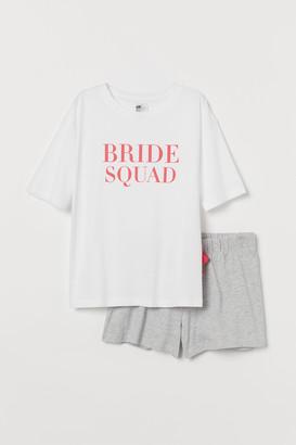 H&M Bridal Shower Pajamas