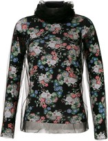 Gloria Coelho tulle panels printed blouse