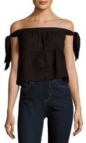 BCBGMAXAZRIA Woven Off Shoulder Top