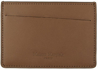 Maison Margiela Brown and Black Leather Card Holder