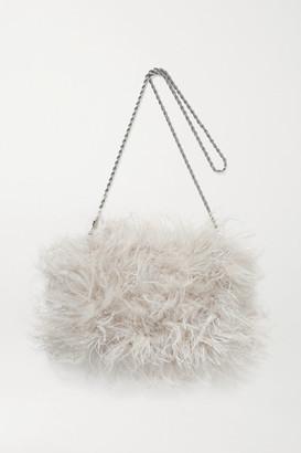 Loeffler Randall Zelda Feather Shoulder Bag - Off-white