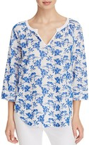 NYDJ Embroidered Blouse