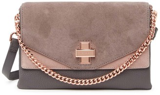 Ted Baker Twist Clasp Chain Leather & Suede Crossbody Bag
