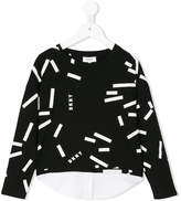 DKNY printed layered longsleeved T-shirt