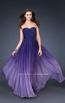 La Femme Magnificent Ombre Chiffon Sweetheart Gown 17004