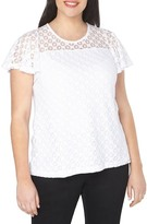 Evans Lace Overlay Top (Plus Size)