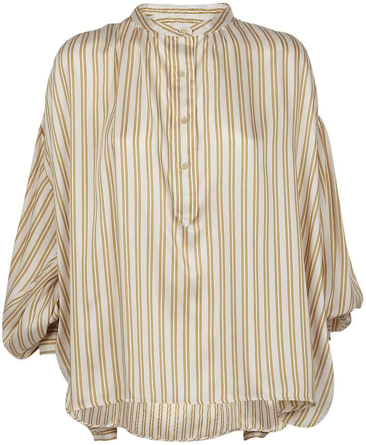 Isabel Marant Striped Collarless Shirt