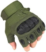 nanjing yebao FREE SOLDIER Outdoor Men Military Hard Knuckle Half Finger Glove Tactical Armor Gloves