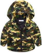 Mud Kingdom Boys Zipper Hooded Jacket Camouflage Coat 8-9T