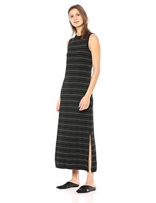Daily Ritual Women's Jersey Mock-Neck Maxi Dress,S