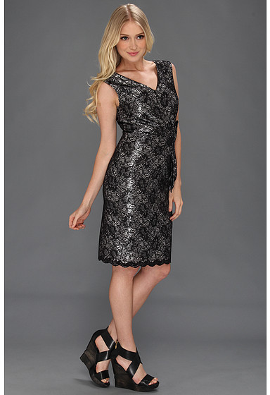 Tahari by Arthur S. Levine Tahari by ASL S/L Bonded Lace Cocktail