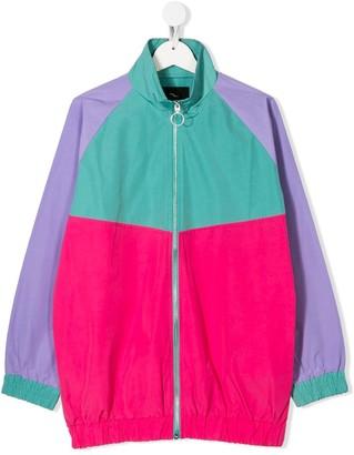 Andorine TEEN colour block bomber jacket
