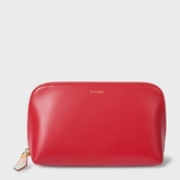 Paul Smith Women's Red Leather Make-Up Bag