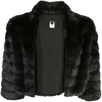Alberto Makali faux fur cropped jacket