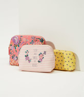 LOFT Stop And Smell The Roses Pouch Trio
