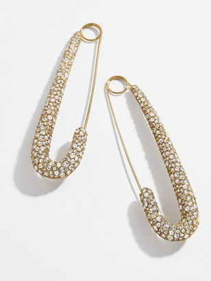 BaubleBar x Montserrat Large Pave Safety Pin Earrings