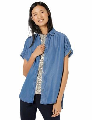 Goodthreads Tencel Short-Sleeve Shirt Medium Wash XS