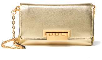 Zac Posen Eartha Medium Metallic Leather Wallet on Chain Crossbody Bag