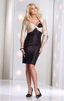 Mon Cheri Social Occasions by Mon Cheri - 113840 Short Dress In Champagne Black