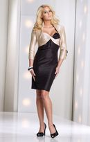 Social Occasions by Mon Cheri - 113840 Short Dress In Champagne Black
