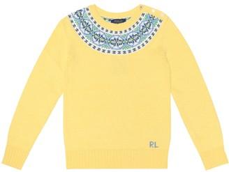 Polo Ralph Lauren Kids Intarsia cotton-blend sweater