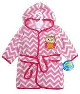 Neat Solutions ; Owl Fleece Bath Robe