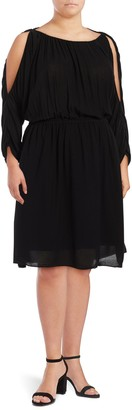 Rachel Roy Cold-Shoulder Blouson Dress