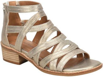 Comfortiva Leather Block-Heel Gladiators - Betha